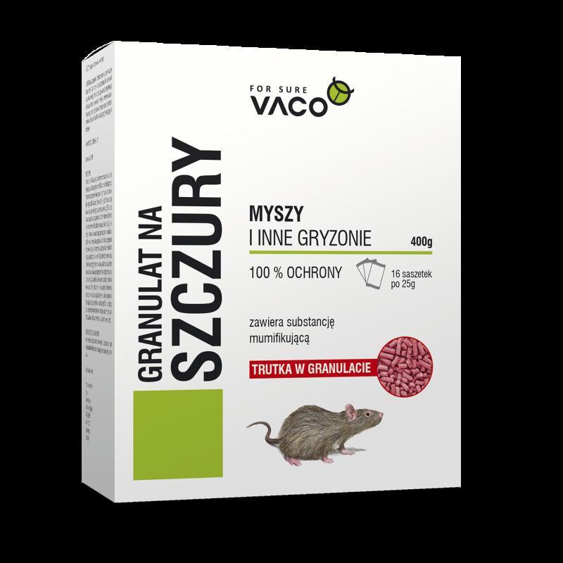 Granulat na szczury i myszy Vaco 400g. Skuteczna trutka na gryzonie.