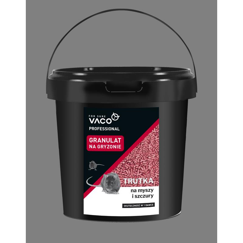 Granulat Vaco w wiaderku 10kg to trutka na gryzonie.